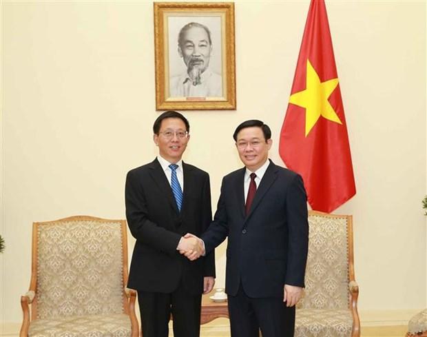 Le vice-PM Vuong Dinh Hue recoit un dirigeant de la province chinoise du Yunnan hinh anh 1