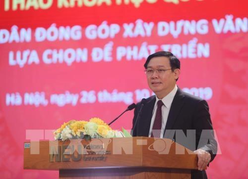 Le Vietnam doit trouver son propre chemin, dit le vice-PM Vuong Dinh Hue hinh anh 1