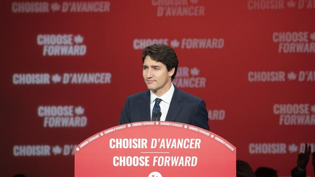 Le PM felicite son homologue canadien Justin Trudeau pour sa victoire aux legislatives hinh anh 1