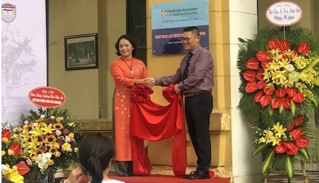 La premiere ecole publique vietnamienne reconnue comme membre de Cambridge International hinh anh 1