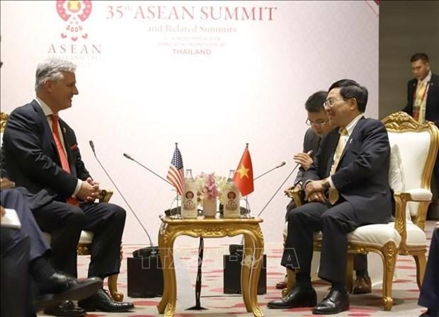 Le vice-PM Pham Binh Minh rencontre l'envoye special du president americain hinh anh 1