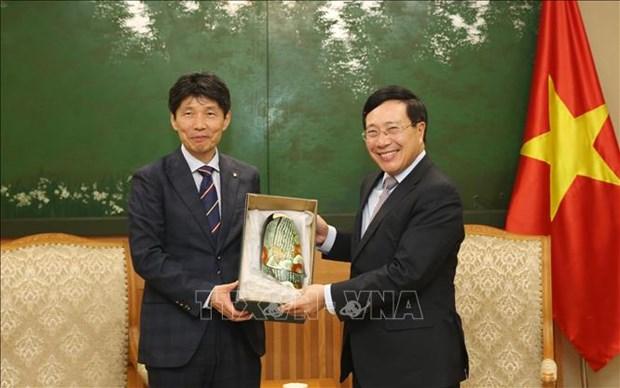 Le vice-PM et ministre des AE Pham Binh Minh recoit le gouverneur de Gunma hinh anh 1