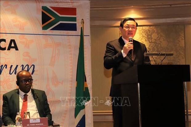 Le vice-PM Vuong Dinh Hue en visite de travail en Afrique du Sud hinh anh 1