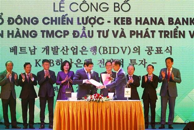 Le sud-coreen KEB Hana Bank devient partenaire strategique de BIDV hinh anh 1