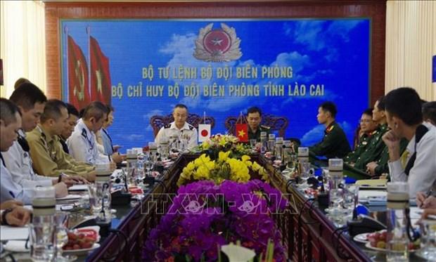 Une delegation militaire japonaise se rend a Lao Cai hinh anh 1