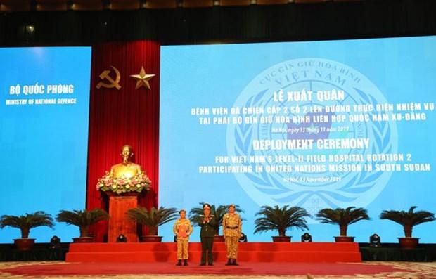 Ceremonie de depart de l'hopital de campagne du niveau 2 No 2 hinh anh 1
