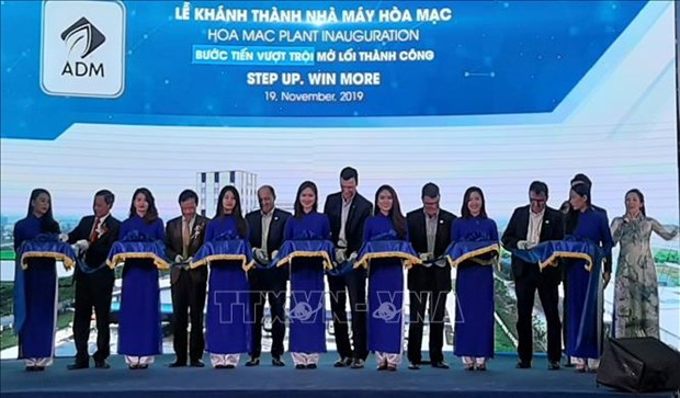 Ha Nam : inauguration de l'usine de production d'aliments pour animaux hinh anh 1