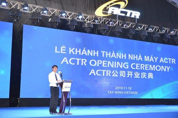 Une usine de pneus radiaux ceintures d'acier voit le jour a Tay Ninh hinh anh 1