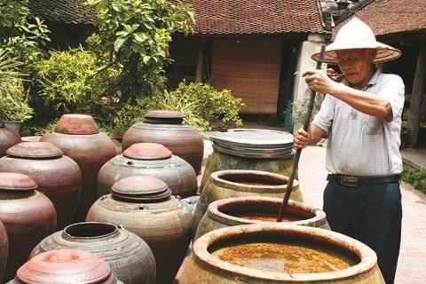 L'ancien village de Duong Lam fait monter la sauce sauja hinh anh 1