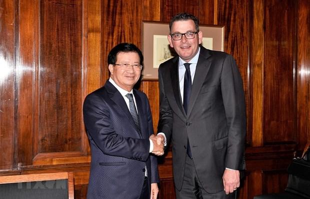 Poursuite des activites du vice-PM Trinh Dinh Dung en Australie hinh anh 1