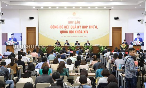 Conference de presse sur la 8e session de l'Assemblee nationale hinh anh 1