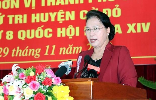 La presidente de l'AN a la rencontre des electeurs a Can Tho hinh anh 1