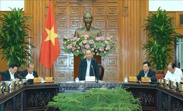Le PM preside une reunion sur le projet de solution 01 pour 2020 hinh anh 1
