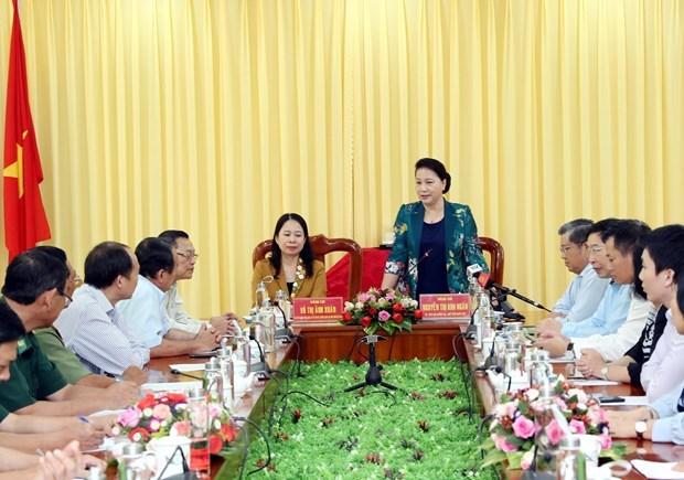 La presidente de l'AN Nguyen Thi Kim Ngan se rend dans la province d'An Giang hinh anh 1