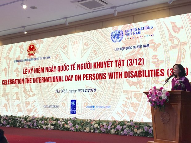 La Journee internationale des personnes handicapees celebree au Vietnam hinh anh 1