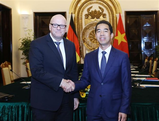 Reunion du Groupe de direction strategique Vietnam-Allemagne a Hanoi hinh anh 1