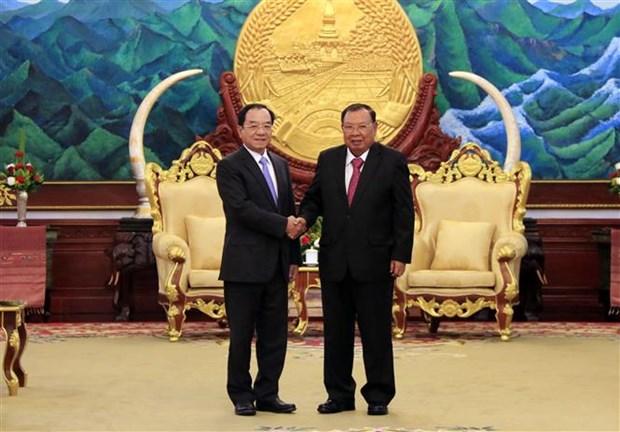 Vietnam – Laos : renforcement de la cooperation entre les bureaux presidentiels hinh anh 1