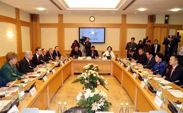 Nguyen Thi Kim Ngan rencontre le president du Conseil d'Etat du Tatarstan hinh anh 1