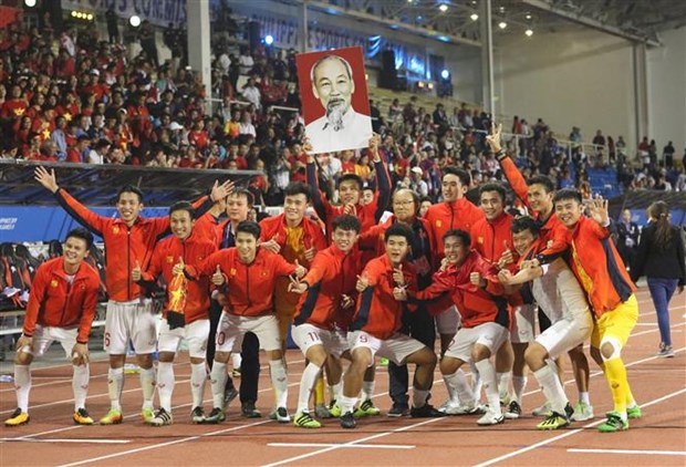 Football : le Vietnam bat l'Indonesie 3-0 en finale des SEA Games 30 hinh anh 1