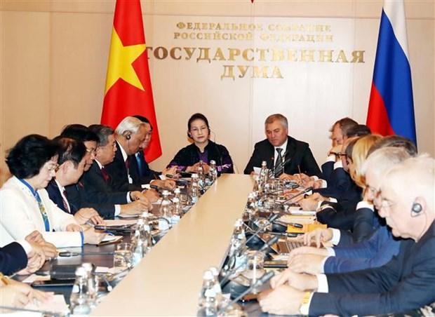 La Commission interparlementaire Vietnam-Russie discutent de nouveaux domaines de cooperation hinh anh 1