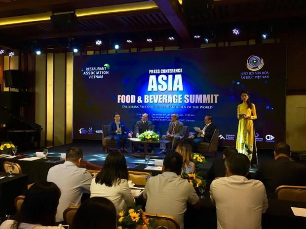 Sommet des aliments et boissons d'Asie pour promouvoir la cuisine vietnamienne hinh anh 1