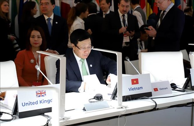 Le vice-PM Pham Binh Minh a la 14e conference des ministres des AE de l'ASEM a Madrid hinh anh 1