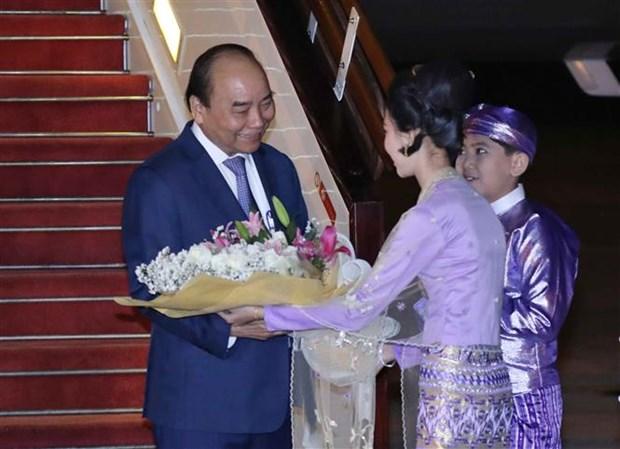 Le Premier ministre entame sa visite officielle au Myanmar hinh anh 1