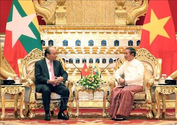 Le Vietnam et le Myanmar publient une declaration commune hinh anh 1