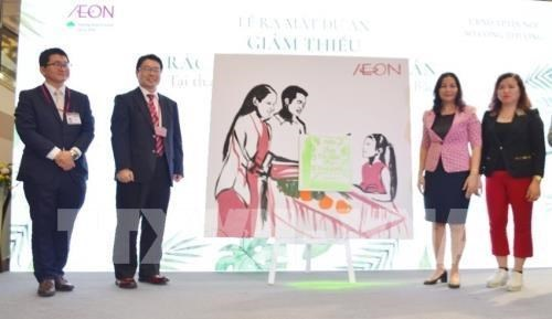 Hanoi et AEON s'associent pour reduire l'empreinte plastique hinh anh 1