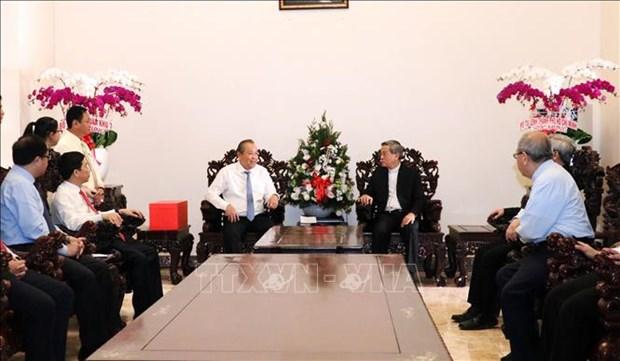 Noel : le vice-PM Truong Hoa Binh felicite les chretiens du Sud hinh anh 1