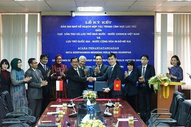 Le Vietnam et l'Indonesie renforcent leur cooperation en matiere d'archives hinh anh 1