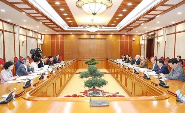 Le leader du Parti preside la reunion du Politburo hinh anh 1