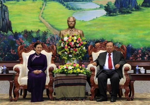 Le leader lao souligne les liens speciaux avec le Vietnam hinh anh 1