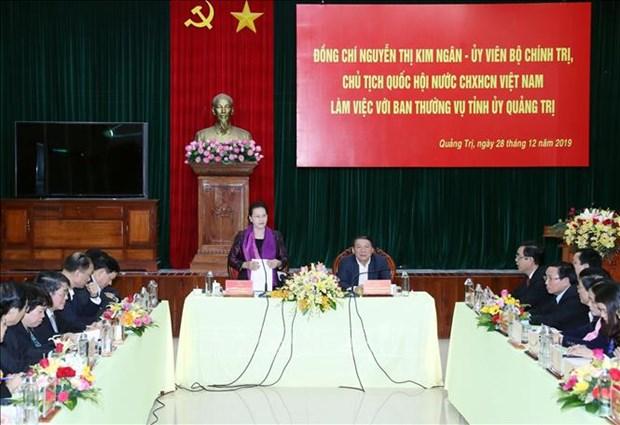 Quang Tri: la presidente de l'AN travaille avec la Permanence du Comite du Parti hinh anh 1