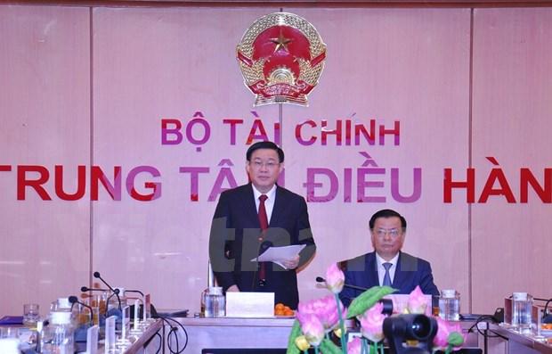 Le vice-PM Vuong Dinh Hue preside une teleconference sur le budget de l'Etat 2019 hinh anh 1