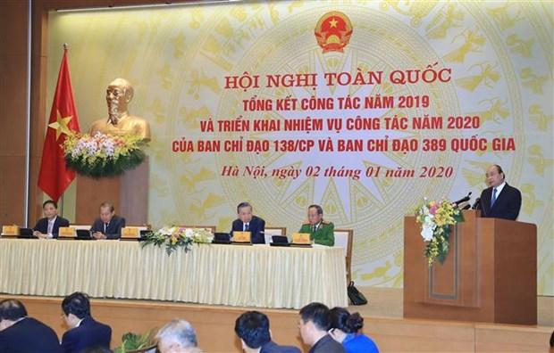 Le PM appelle a renforcer la lutte contre la contrebande et les fraudes commerciales hinh anh 1