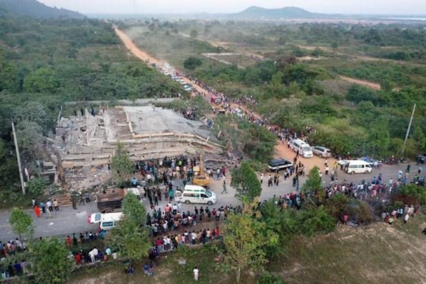 Cambodge: Quatre morts dans l'effondrement d'un immeuble a Kep hinh anh 1