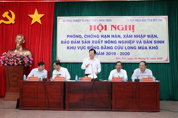 Le delta du Mekong cherche a faire face a l'intrusion saline hinh anh 1