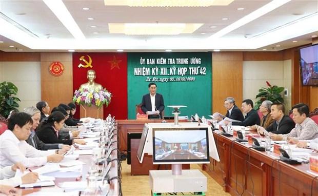 La 42e reunion de la Commission de controle du Comite central du Parti hinh anh 1