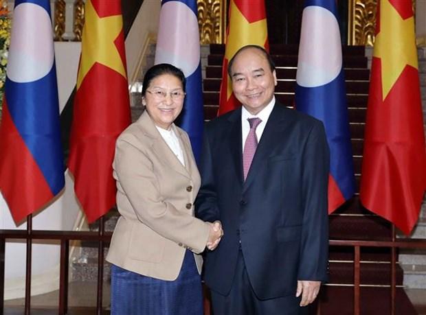 Le Premier ministre recoit la presidente de l'Assemblee nationale laotienne hinh anh 1
