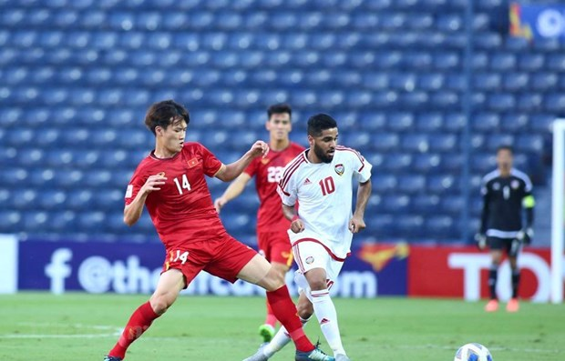 Championnat U23 de l'Asie 2020 : Le Vietnam fait match nul contre les Emirats Arabes Unis hinh anh 1
