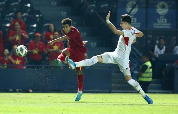 Championnat U23 de l'Asie 2020 : Le Vietnam fait match nul contre la Jordanie hinh anh 1