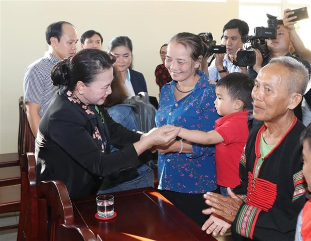 La presidente de l'Assemblee nationale en tournee a Dak Lak hinh anh 1