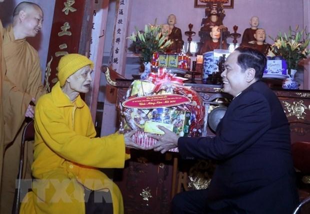 Les meilleurs vœux du Tet traditionnel pour l'Eglise bouddhique du Vietnam hinh anh 1