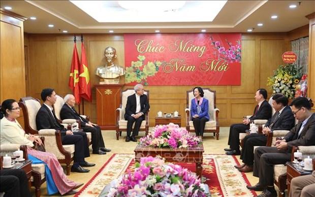 Une membre du Politburo salue les contributions des catholiques hinh anh 1