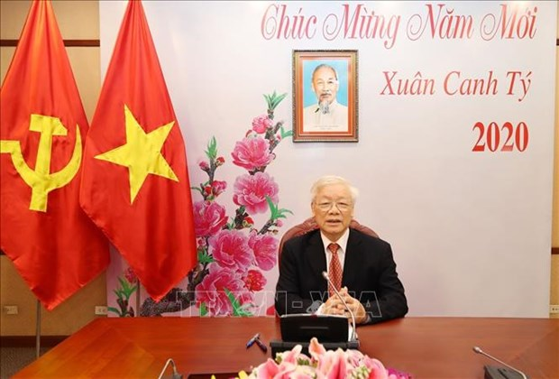 Conversation telephonique entre Nguyen Phu Trong et Xi Jinping hinh anh 1