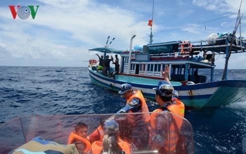 Un Tet precoce sur le bateau de sauvetage 954 hinh anh 1
