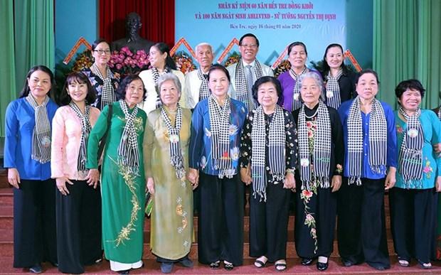 La presidente de l'AN Nguyen Thi Kim Ngan a Ben Tre hinh anh 1