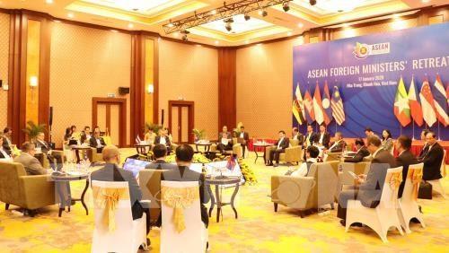 Declaration de presse du president de la reunion restreinte des ministres des AE de l'ASEAN hinh anh 1
