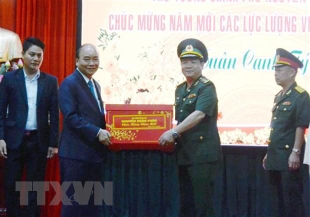 Le Premier ministre Nguyen Xuan Phuc formule ses vœux du Tet a Da Nang hinh anh 1